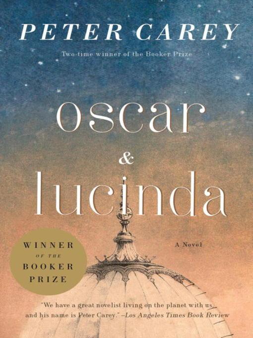 Oscar & Lucinda book cover