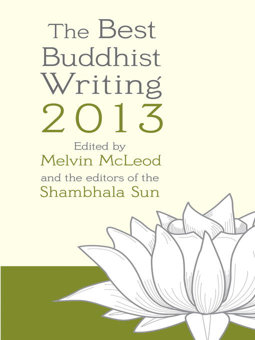 Cover image for The Best Buddhist Writing 2013