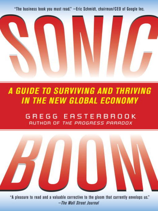 Title details for Sonic Boom by Gregg Easterbrook - Available