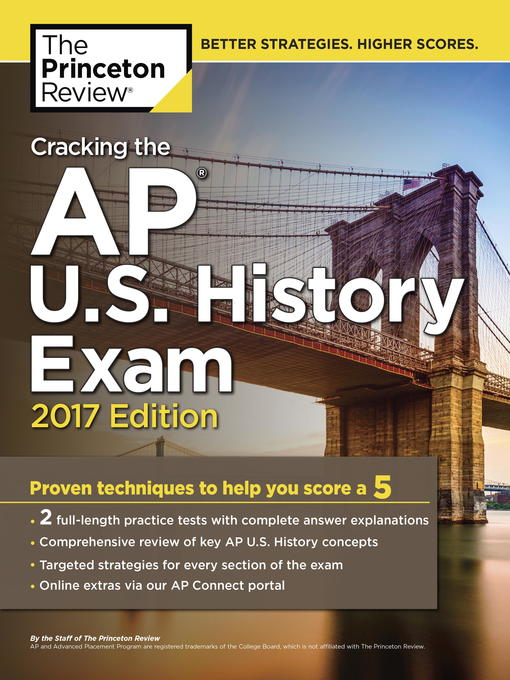 Title details for Cracking the AP U.S. History Exam, 2017 Edition by Princeton Review - Available