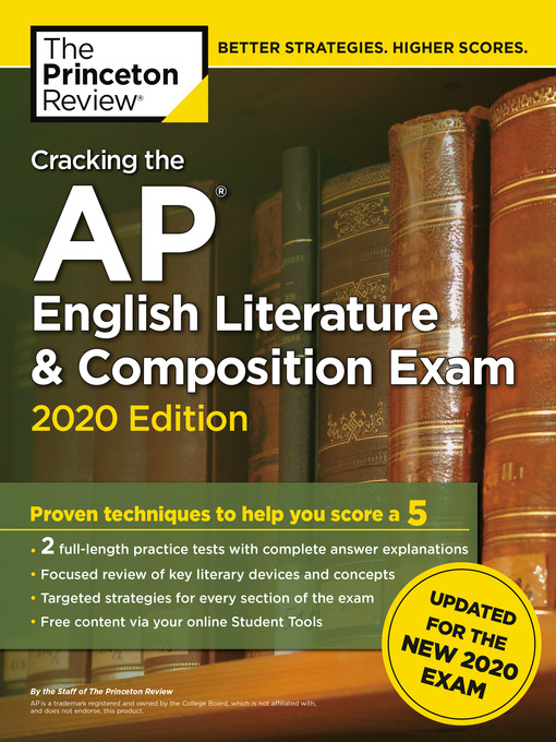 Title details for Cracking the AP English Literature & Composition Exam, 2020 Edition by The Princeton Review - Available