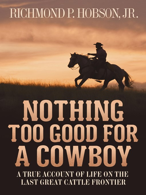 Cover of Nothing Too Good for a Cowboy