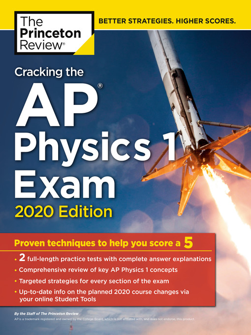 Title details for Cracking the AP Physics 1 Exam, 2020 Edition by The Princeton Review - Wait list