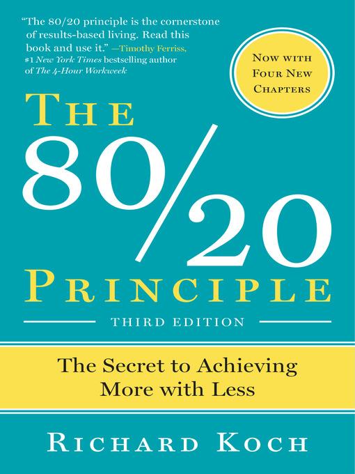 The 80 20 principle ok virtual library overdrive for Koch 80 20 principle