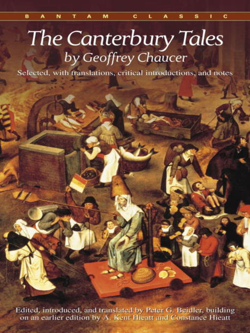 a literary analysis of the canterbury tales by geoffrey chaucer Sites about the canterbury tales by geoffrey chaucer in this series of story- poems, chaucer tells the tales of travellers making an april pilgrimage to.