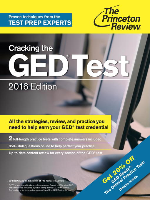 Title details for Cracking the GED Test with 2 Practice Exams, 2016 Edition by Princeton Review - Wait list