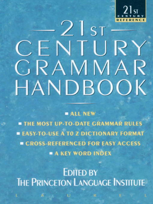 Title details for 21st Century Grammar Handbook by Barbara Ann Kipfer - Available