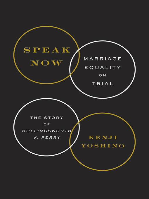 Title details for Speak Now by Kenji Yoshino - Available