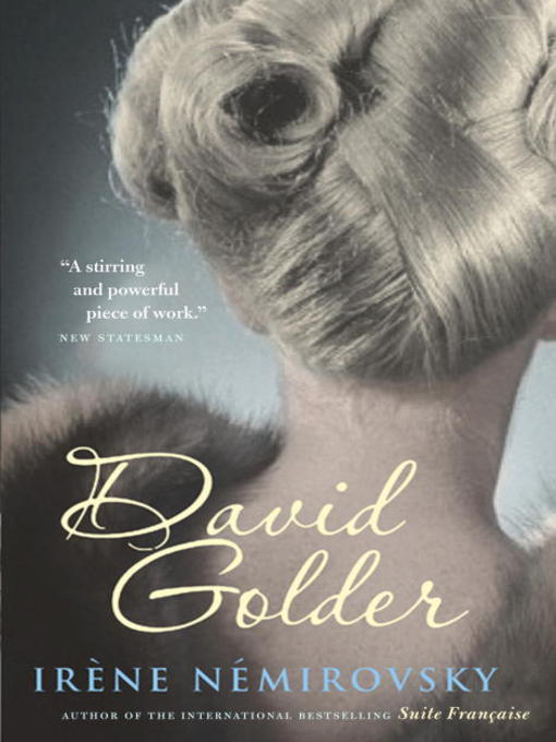 Title details for David Golder by Irene Nemirovsky - Available
