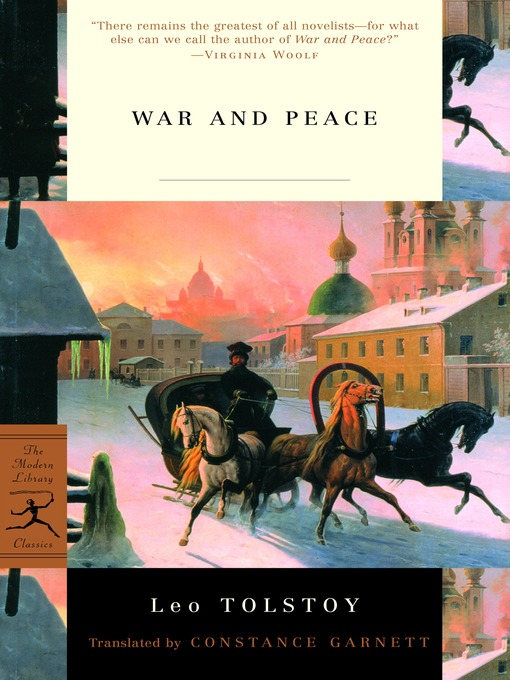 Title details for War and Peace by Leo Tolstoy - Wait list