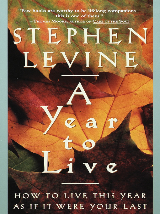 Title details for A Year to Live by Stephen Levine - Available