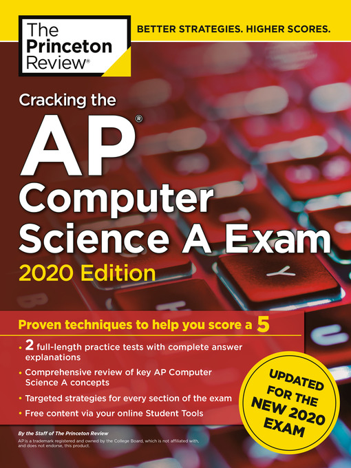 Title details for Cracking the AP Computer Science a Exam, 2020 Edition by The Princeton Review - Wait list