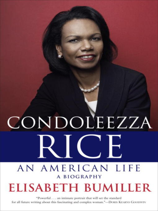 an introduction to the life and work by condoleezza rice