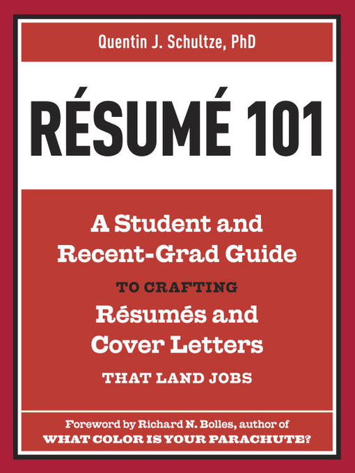 Title details for Resume 101 by Quentin J. Schultze - Available