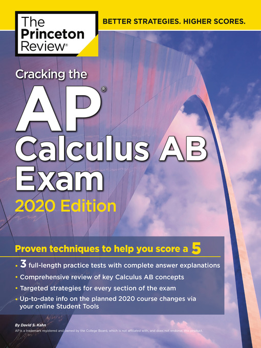 Title details for Cracking the AP Calculus AB Exam, 2020 Edition by The Princeton Review - Wait list