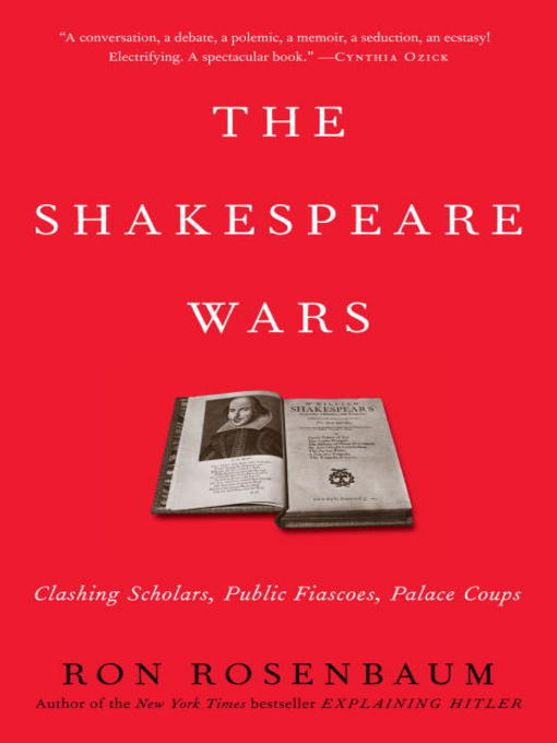 Title details for The Shakespeare Wars by Ron Rosenbaum - Available