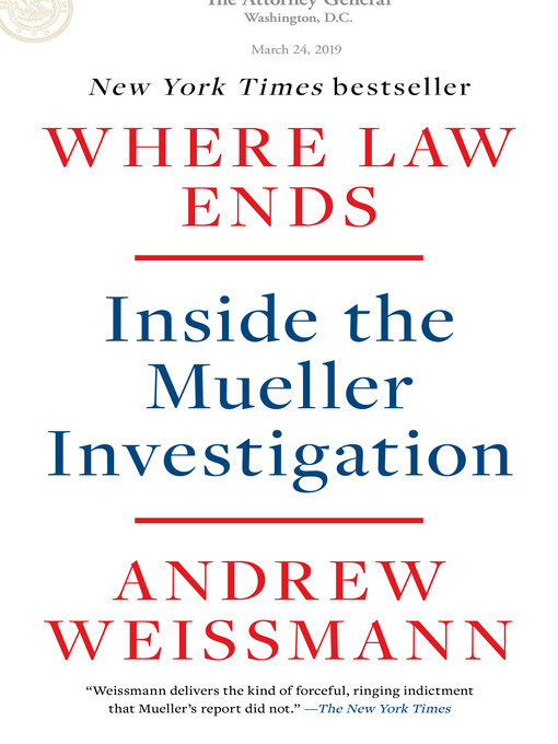 Title details for Where Law Ends by Andrew Weissmann - Available