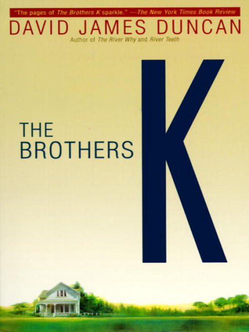 the brothers k And in the brothers k he tells a story both striking and in its originality and poignant in its universality this touching, uplifting novel spans decades of loyalty, anger, regret, and love in the lives of the chance family.