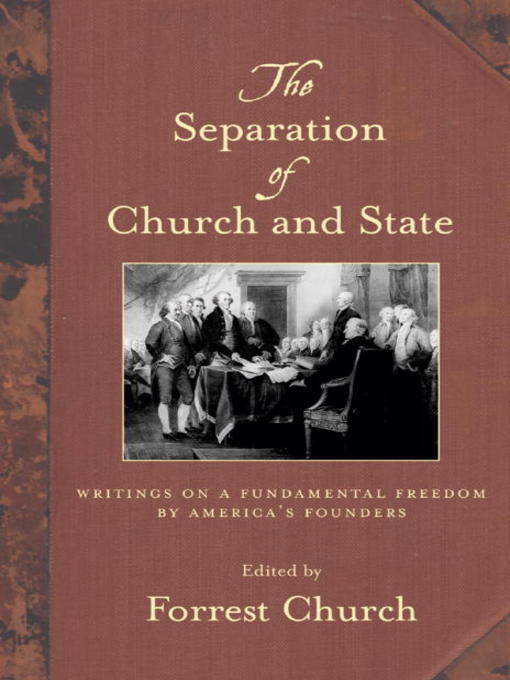 an analysis of the separation of church and state in the us constitution and the significant removal Separation of church and state: we need you to help us the court of appeals did not order the removal of the cross as requested by the jewish.
