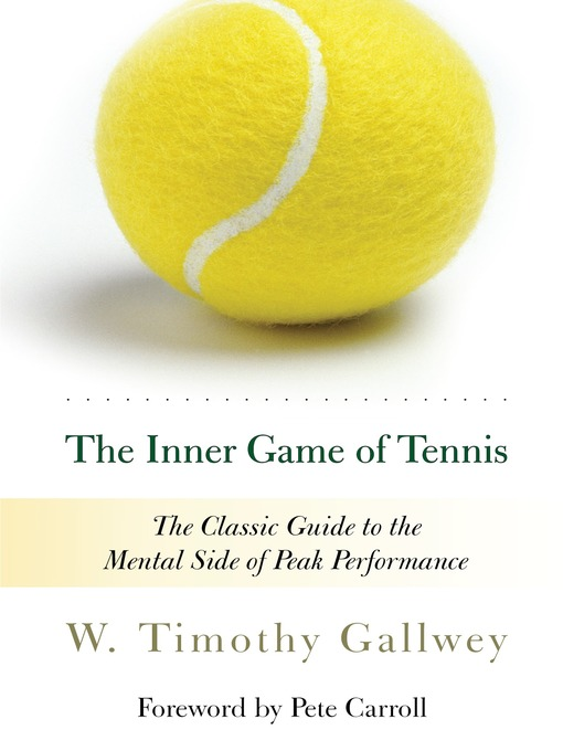 Title details for The Inner Game of Tennis by W. Timothy Gallwey - Wait list