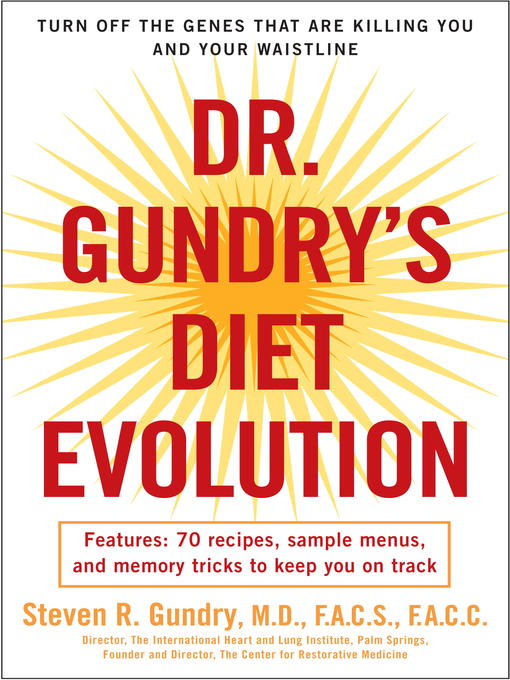 Title details for Dr. Gundry's Diet Evolution by Dr. Steven R. Gundry - Wait list