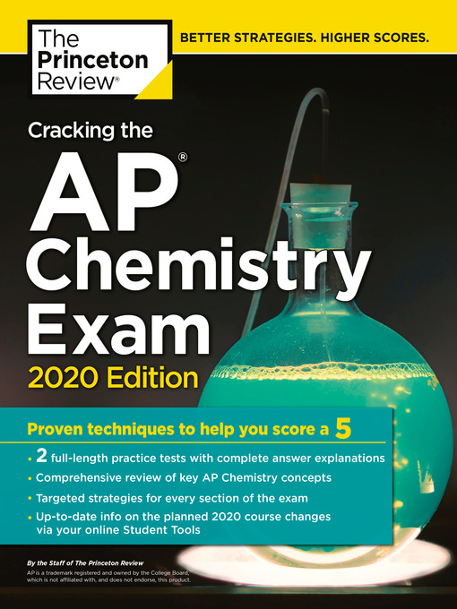 Title details for Cracking the AP Chemistry Exam, 2020 Edition by The Princeton Review - Wait list