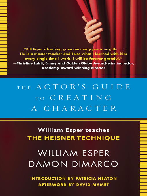 Title details for The Actor's Guide to Creating a Character by William Esper - Wait list