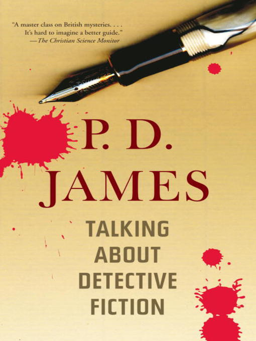Title details for Talking About Detective Fiction by P. D. James - Available