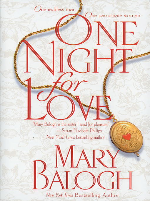 Title details for One Night for Love by Mary Balogh - Available