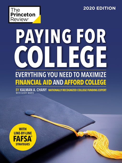 Title details for Paying for College, 2020 Edition by The Princeton Review - Wait list