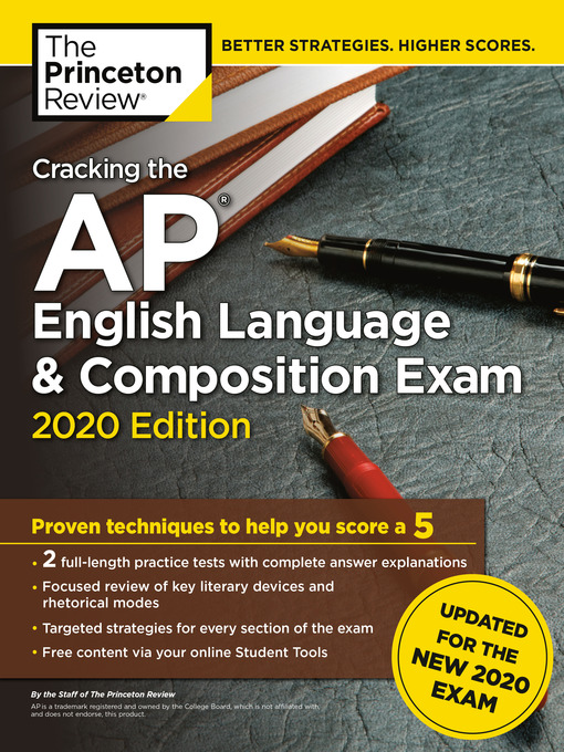 Title details for Cracking the AP English Language & Composition Exam, 2020 Edition by The Princeton Review - Wait list