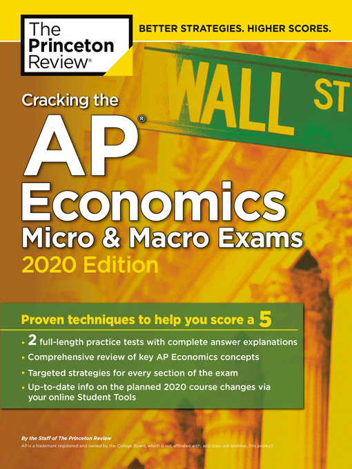 Title details for Cracking the AP Economics Micro & Macro Exams, 2020 Edition by The Princeton Review - Wait list