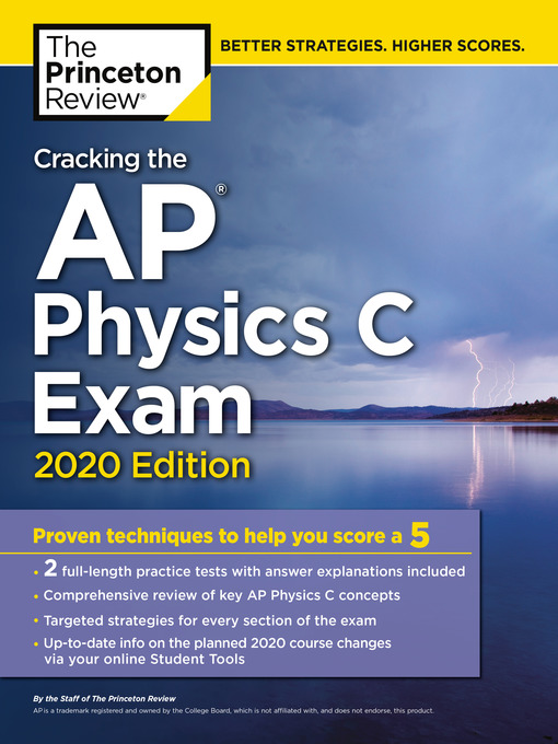 Title details for Cracking the AP Physics C Exam, 2020 Edition by The Princeton Review - Wait list