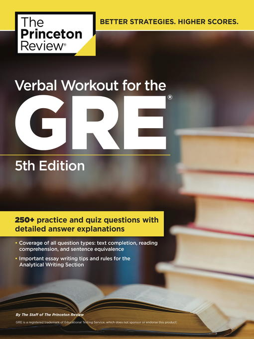 Title details for Verbal Workout for the GRE by Princeton Review - Available