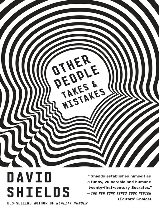 Title details for Other People by David Shields - Available
