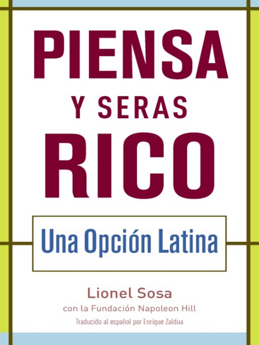 Title details for Piensa y seras rico by Lionel Sosa - Available