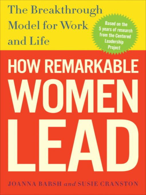 Title details for How Remarkable Women Lead by Joanna Barsh - Wait list