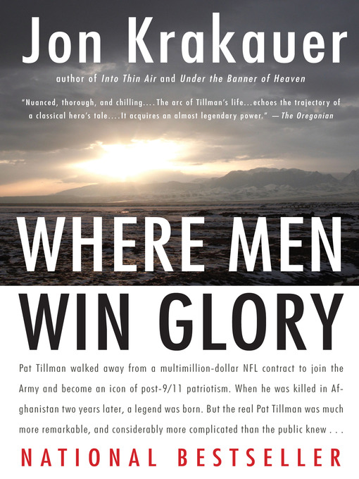 Title details for Where Men Win Glory by Jon Krakauer - Available