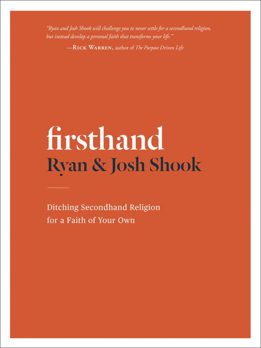 Title details for Firsthand by Ryan Shook - Available