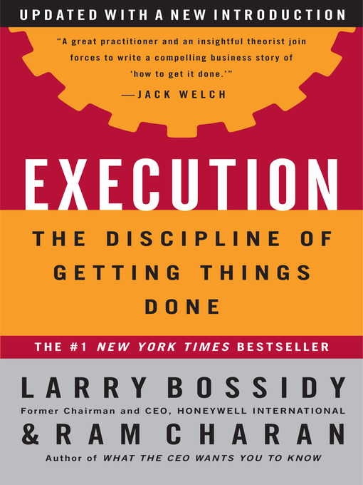 Title details for Execution by Larry Bossidy - Wait list