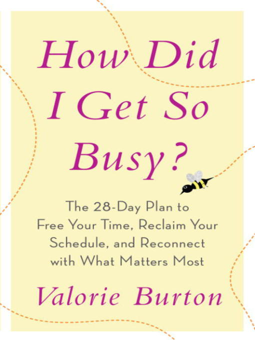 Title details for How Did I Get So Busy? by Valorie Burton  - Wait list