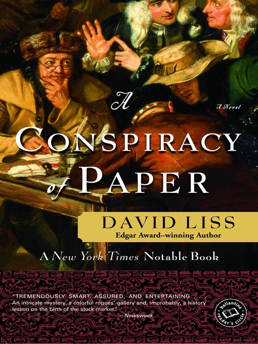 Title details for A Conspiracy of Paper by David Liss - Wait list