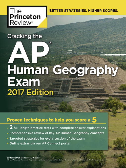 Title details for Cracking the AP Human Geography Exam, 2017 Edition by Princeton Review - Available