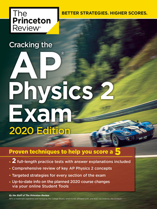 Title details for Cracking the AP Physics 2 Exam, 2020 Edition by The Princeton Review - Wait list