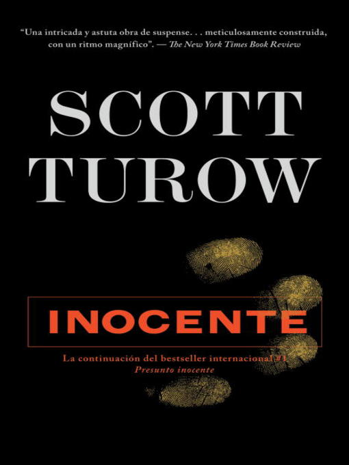 Title details for Inocente by Scott Turow - Available