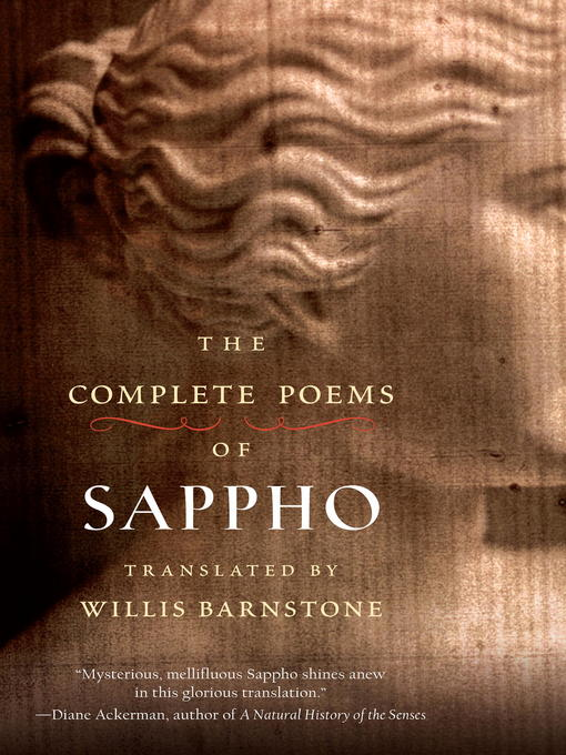 Title details for The Complete Poems of Sappho by Willis Barnstone - Wait list