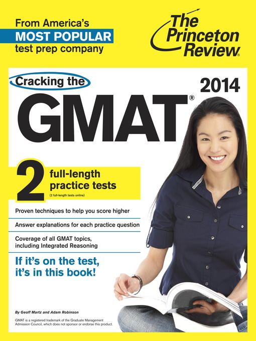 Cover of Cracking the GMAT with 2 Practice Tests, 2014 Edition