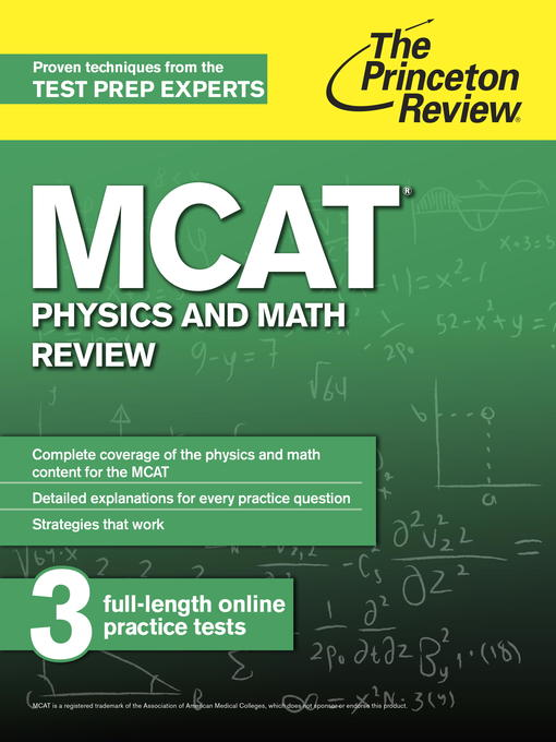 MCAT Physics and Math Review - Toronto Public Library