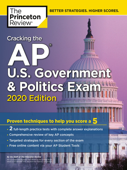 Title details for Cracking the AP U.S. Government & Politics Exam, 2020 Edition by The Princeton Review - Wait list