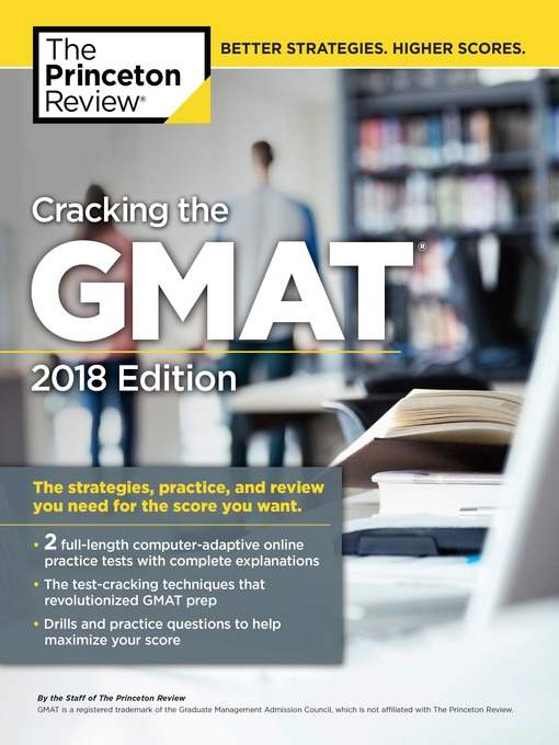 Cover of Cracking the GMAT with 2 Computer-Adaptive Practice Tests, 2018 Edition